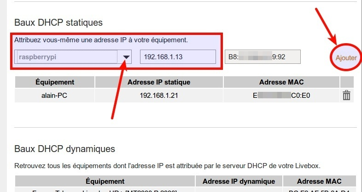 Connaître l'adresse IP du Raspberry - Attribuer une IP fixe